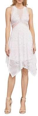 BCBGMAXAZRIA Meilani Asymmetrical Floral Lace Dress