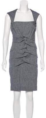 Nicole Miller Linen-Blend Knee-Length Dress w/ Tags