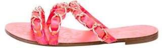 Sophia Webster Printed Chain-Link Sandals