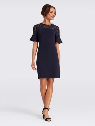 Draper James Solid Flutter Short Sleeve Dress