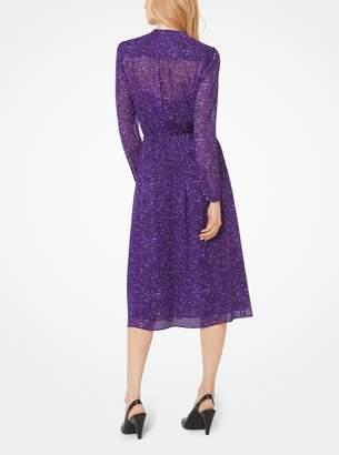 MICHAEL Michael Kors Tweed Georgette Shirtdress