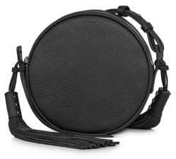 AllSaints Kepi Round Leather Crossbody Bag