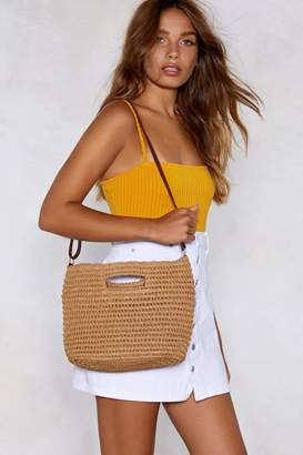 Nasty Gal WANT Like a Straw in the Wind Bag