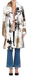 Co Women's Rabbit Fur Coat-Brown