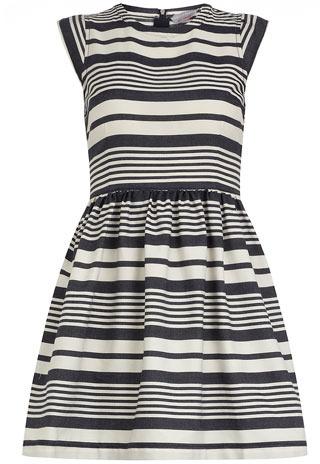 Dorothy Perkins Petite denim stripe dress