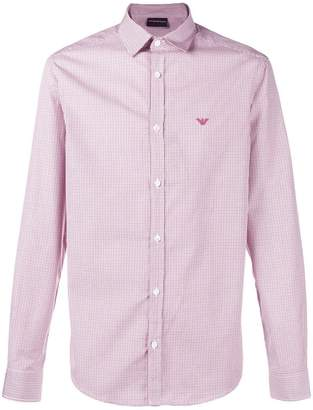 Emporio Armani logo long-sleeve fitted shirt
