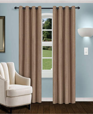 "Superior Linen Textured Blackout Curtain, Set of 2, 52"" x 96"""