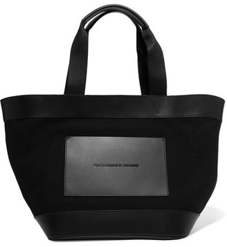 Alexander Wang - Leather And Canvas Tote - Black $450 thestylecure.com