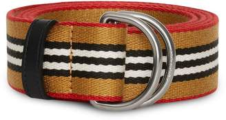 Burberry Heritage Stripe Double D-ring Belt