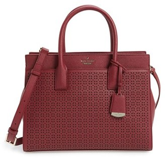 Kate Spade New York 'Cameron Street - Candace' Perforated Satchel - Burgundy $398 thestylecure.com