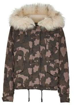 Only New Skylar Camouflage Faux Fur-Trimmed Parka