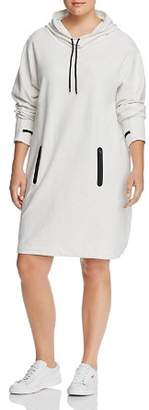 Andrew Marc Plus Hooded Funnel-Neck Dress
