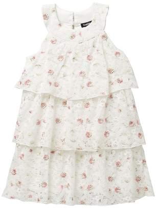 Zunie Tiered Lace Floral Dress (Little Girls)