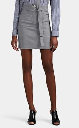 Robert Rodriguez Women's Lexy Gingham Cotton-Blend Belted Miniskirt - Black