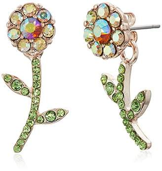 Betsey Johnson Flower Front Back Earrings-Jackets