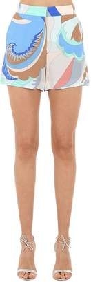 Emilio Pucci Printed Silk Shorts