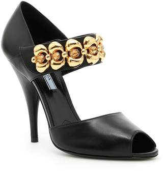 Prada Sandals With Embellished Buckle