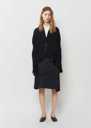 Y's Asymmetrical Knit Cardigan Black