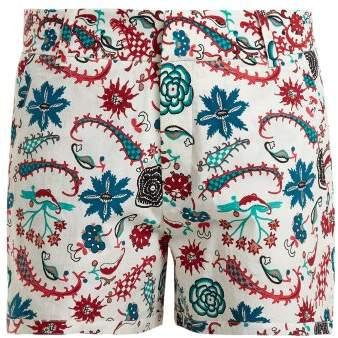 LE SIRENUSE, POSITANO Leopard Garden-print cotton shorts