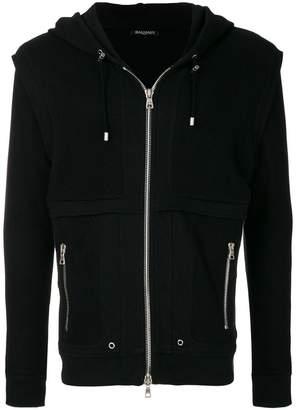 Balmain hooded mesh jacket