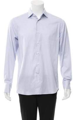 Canali Striped Button-Up Shirt