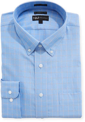 Neiman Marcus Classic Fit Twill Check Dress Shirt
