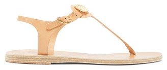 Ancient Greek Sandals Lito Coin Embellished Leather Sandals - Womens - Tan