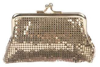 Whiting & Davis Metallic Chain-Mail Kiss-Lock Pouch