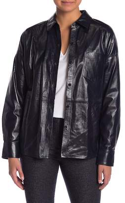 Theory Lourah Paper Leather Jacket