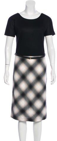 GucciGucci Wool Belted Dress w/ Tags