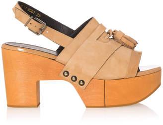 Clergerie Clara Leather Platform Sandals