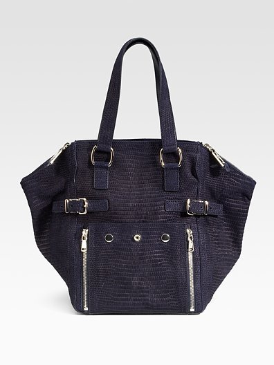 Yves Saint Laurent Small Suede Downtown Tote