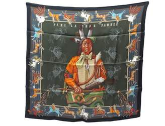 Hermes Vintage Black Silk Scarves