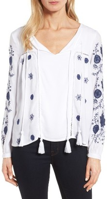 Women's Kut From The Kloth Prairie Embroidered Top $88 thestylecure.com