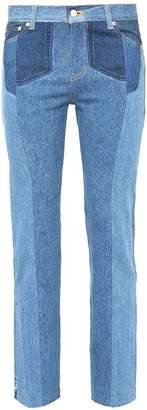 NOVE Patchwork straight leg jeans