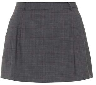 Miu Miu Checked wool miniskirt