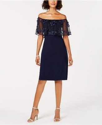 MSK 3D Floral Applique Sheath Dress