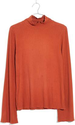 Madewell Ruffle Edge Mock Neck Top