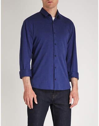 HUGO Textured extra slim-fit stretch-cotton shirt