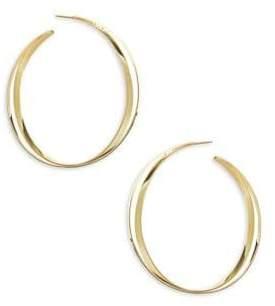 "Lana 15-Year Anniversary Double Cross Hoop Earrings/1.5"""