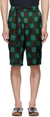 Dries Van Noten Green Piene Shorts