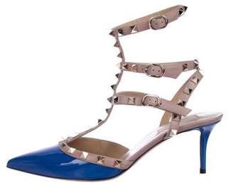 Valentino Rockstud Ankle-Strap Pumps