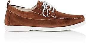 Barneys New York MEN'S SUEDE BOAT SHOES - BROWN SIZE 7 M