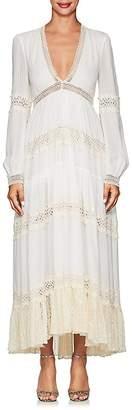 Philosophy di Lorenzo Serafini Women's Crochet-Trimmed Maxi Dress
