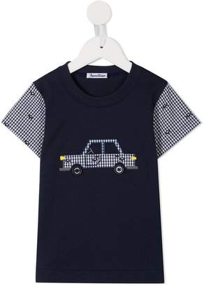 Familiar car embroidered T-shirt
