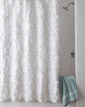 Horchow White Flower Power Shower Curtain