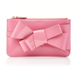 DELPOZO M'O Exclusive Mini Patent Bow Clutch