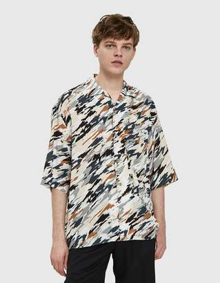 Lemaire Convertible Collar Shirt in Multicolor