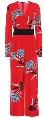 Diane von Furstenberg Floral-printed silk-blend jumpsuit