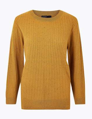 Marks and Spencer Pure Cashmere Relaxed Ribbed Jumper
